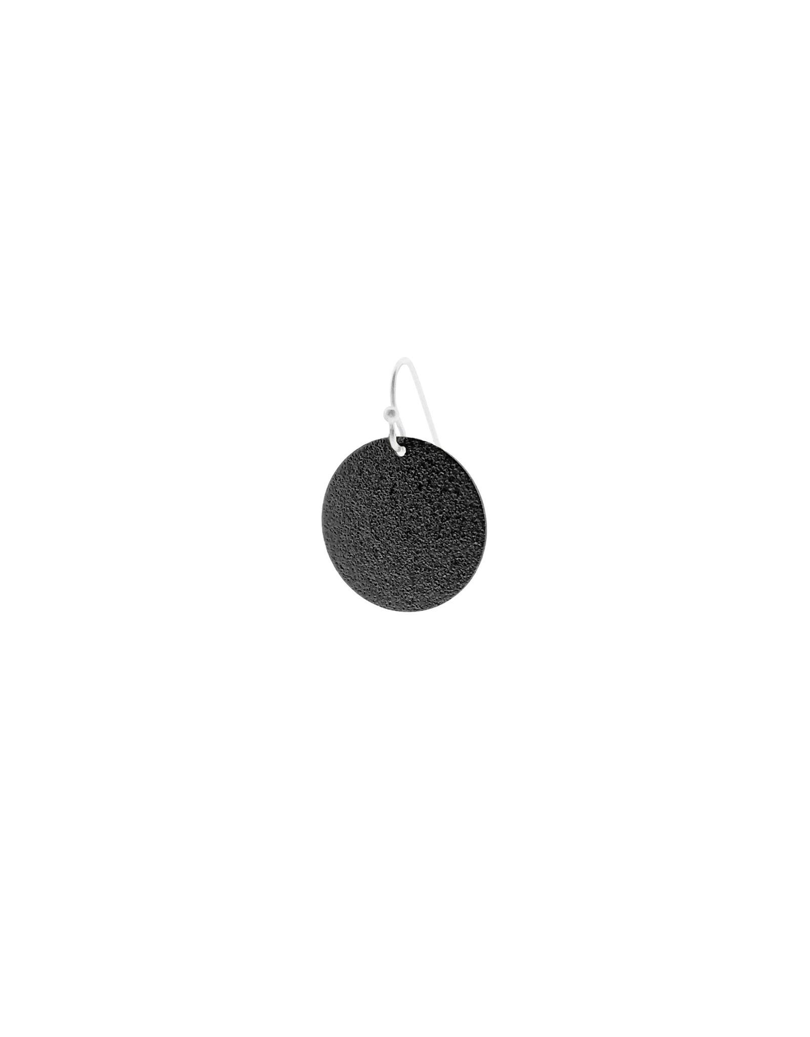 oorbEllen mix&match cirkel vol mat zwart kort zilver