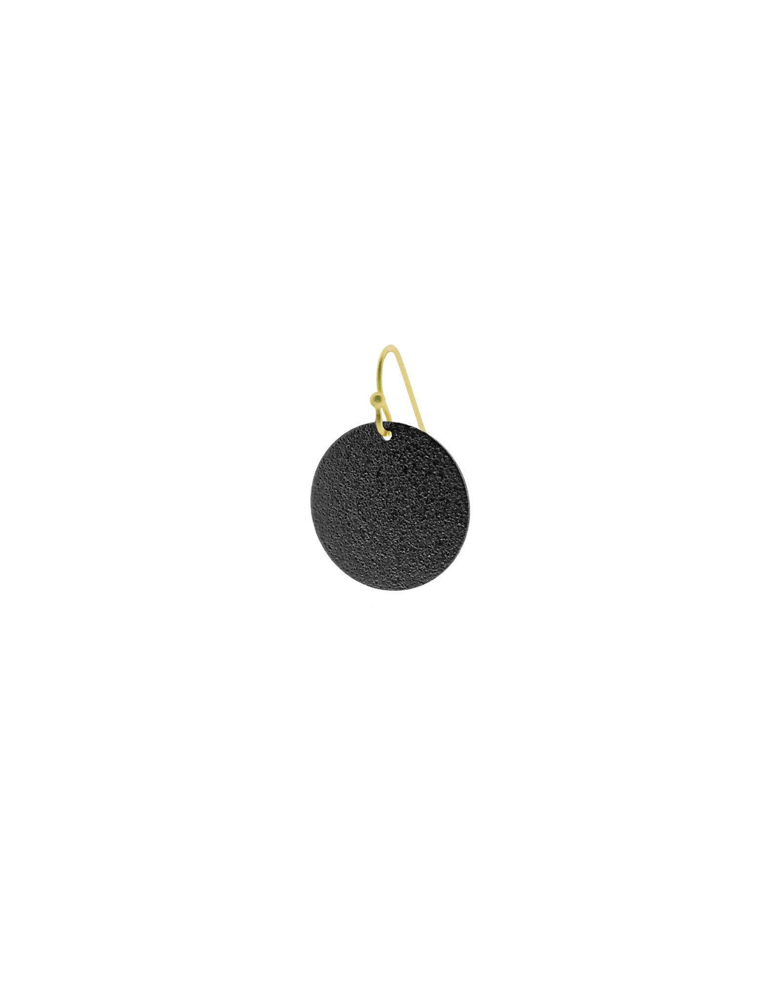 oorbEllen mix&match cirkel vol mat zwart kort goud