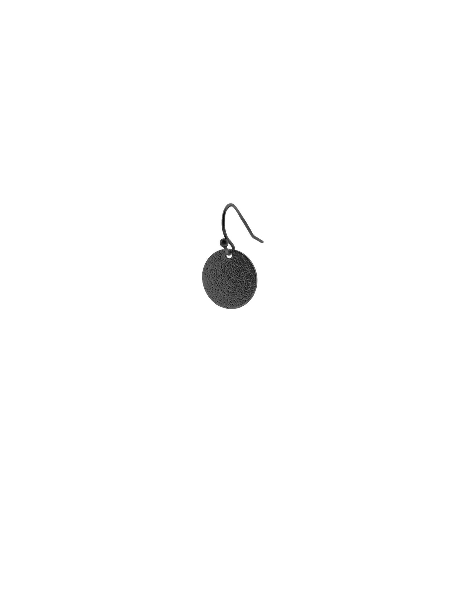 oorbEllen mix&match cirkel klein vol mat zwart kort
