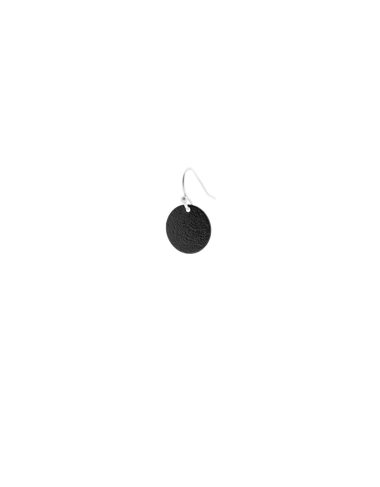 oorbEllen mix&match cirkel klein vol mat zwart kort zilver