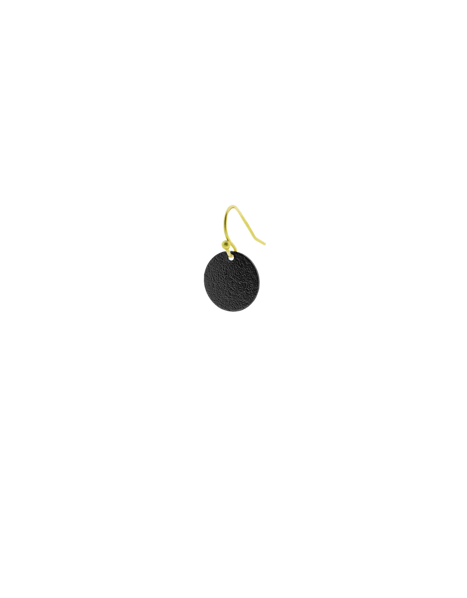 oorbEllen mix&match cirkel klein vol mat zwart kort goud
