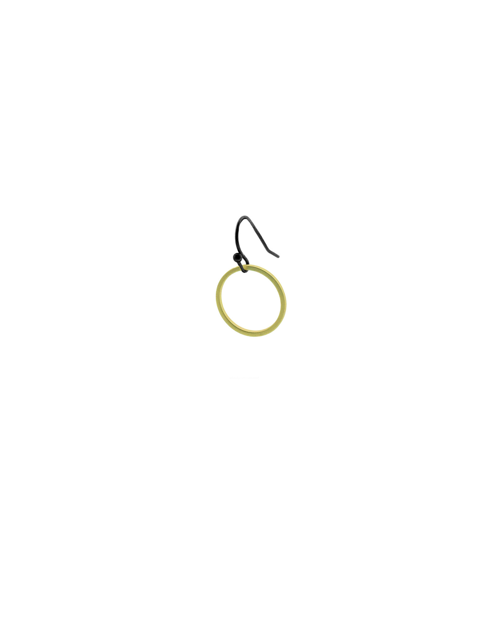 oorbEllen mix&match cirkel klein mat goud kort zwart