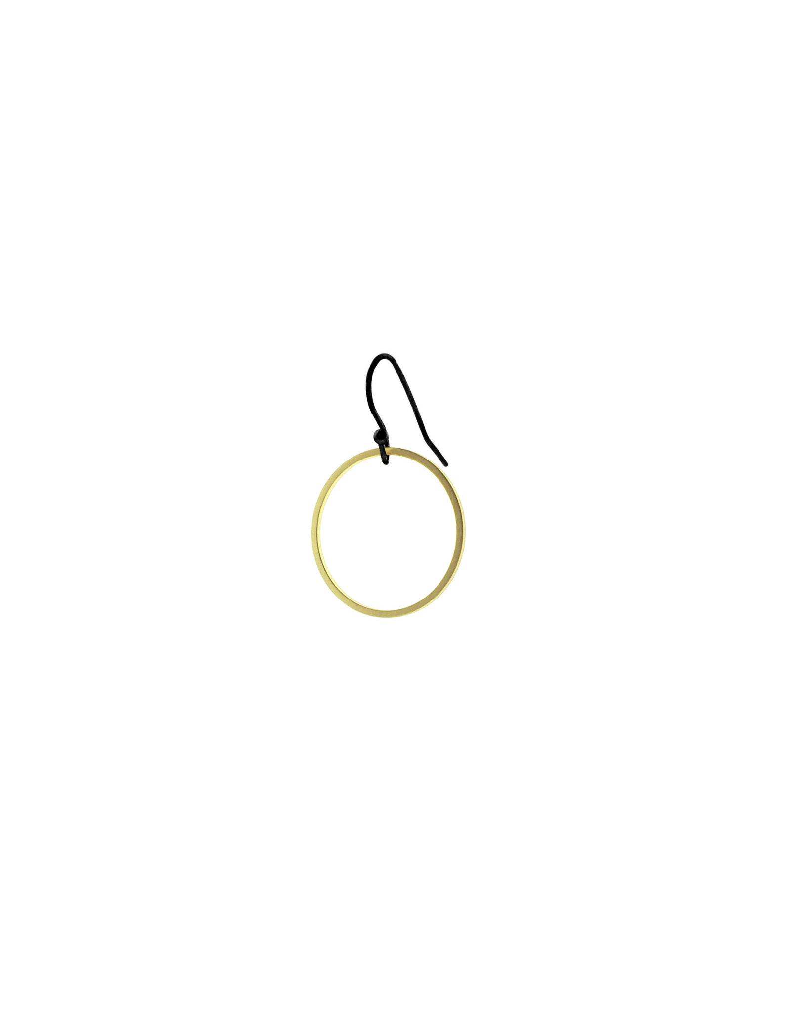 oorbEllen mix&match cirkel mat goud kort zwart
