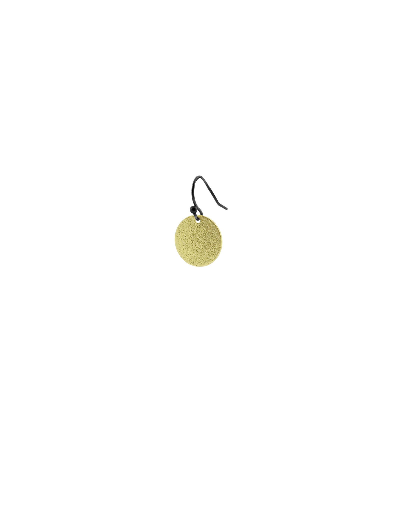 oorbEllen mix&match cirkel klein vol mat goud kort zwart