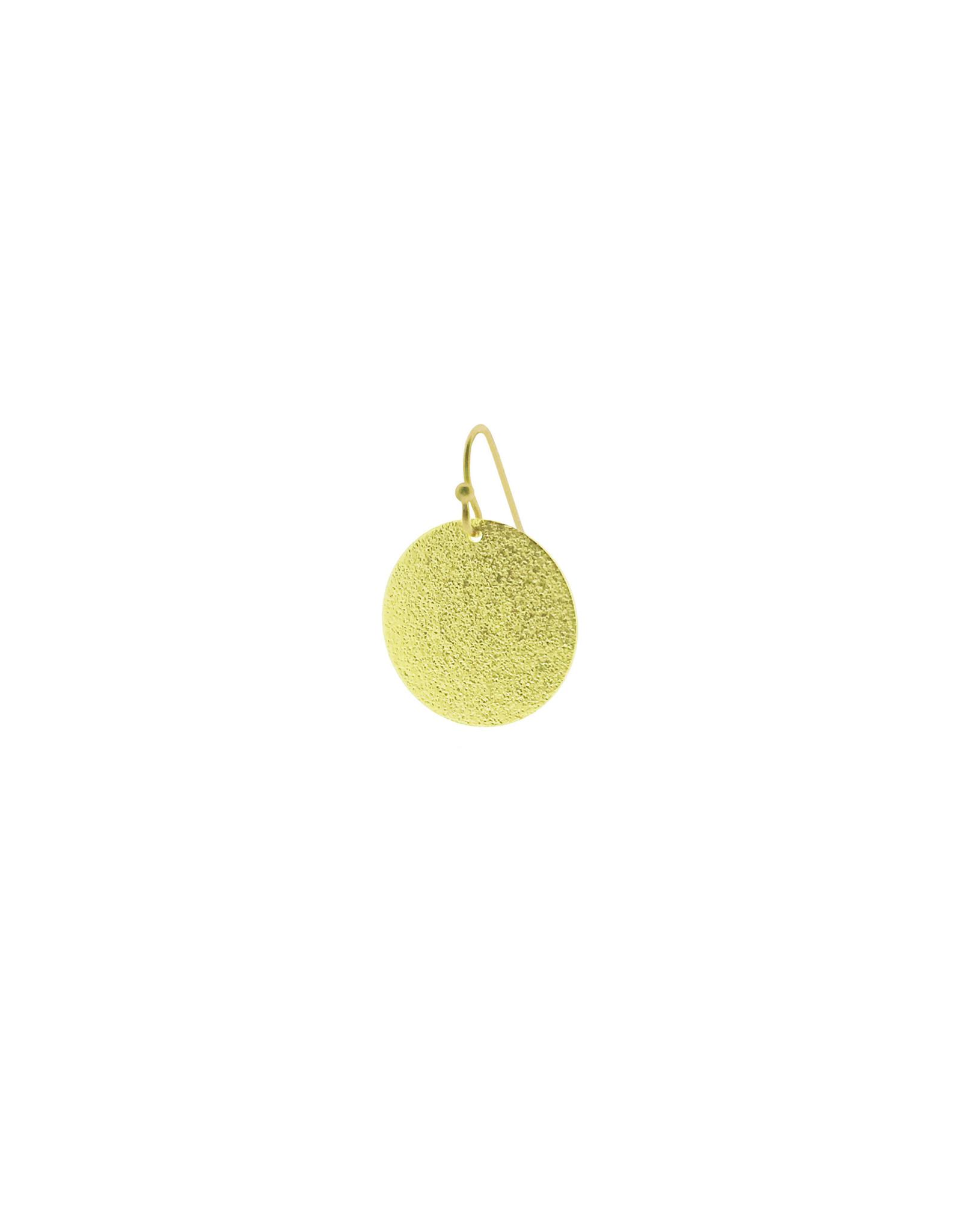 oorbEllen mix&match cirkel vol mat goud kort