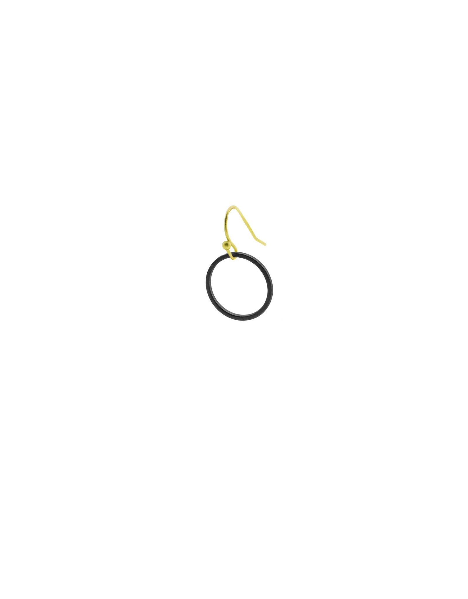 oorbEllen mix&match cirkel klein mat zwart kort goud