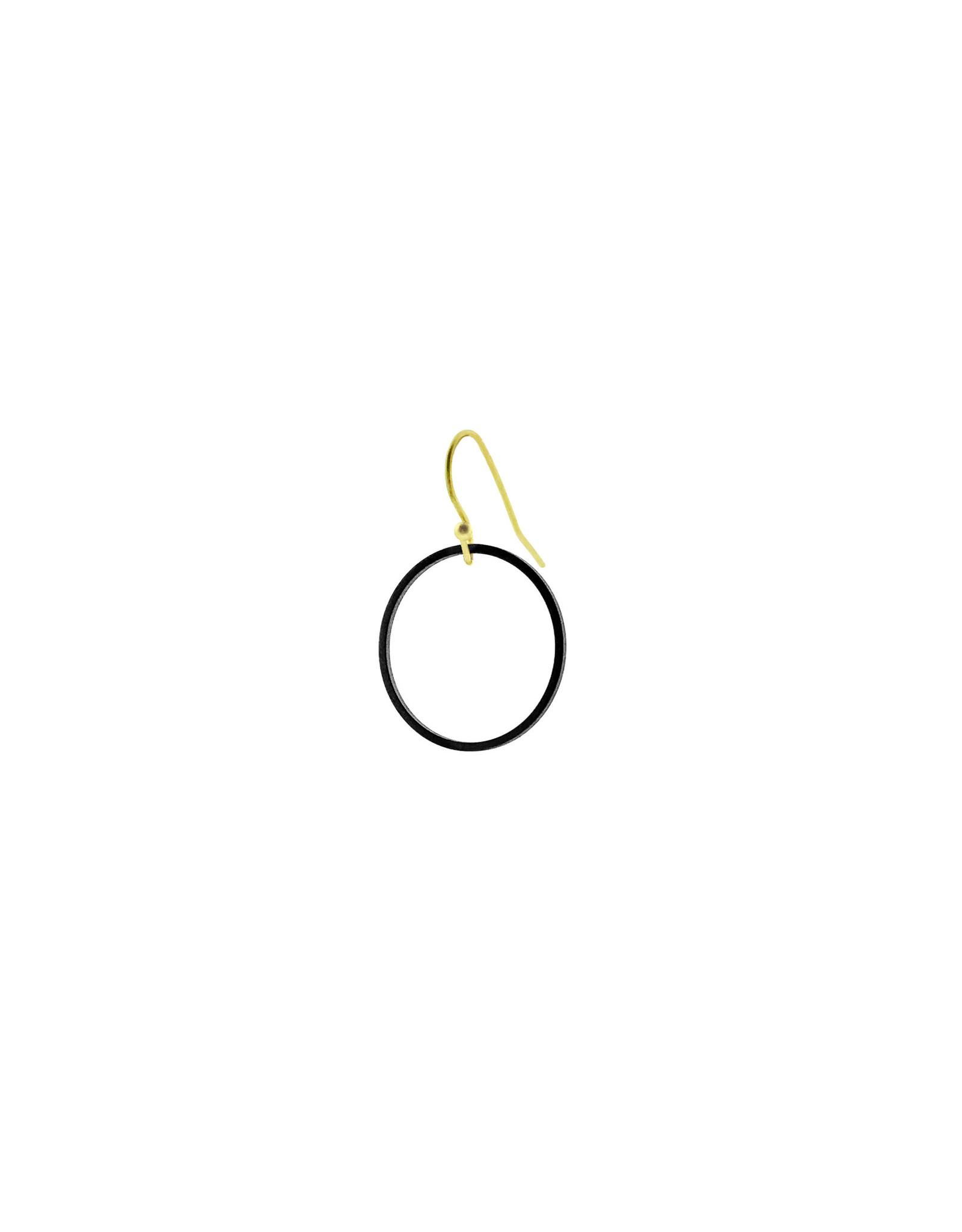 oorbEllen mix&match cirkel mat zwart kort goud