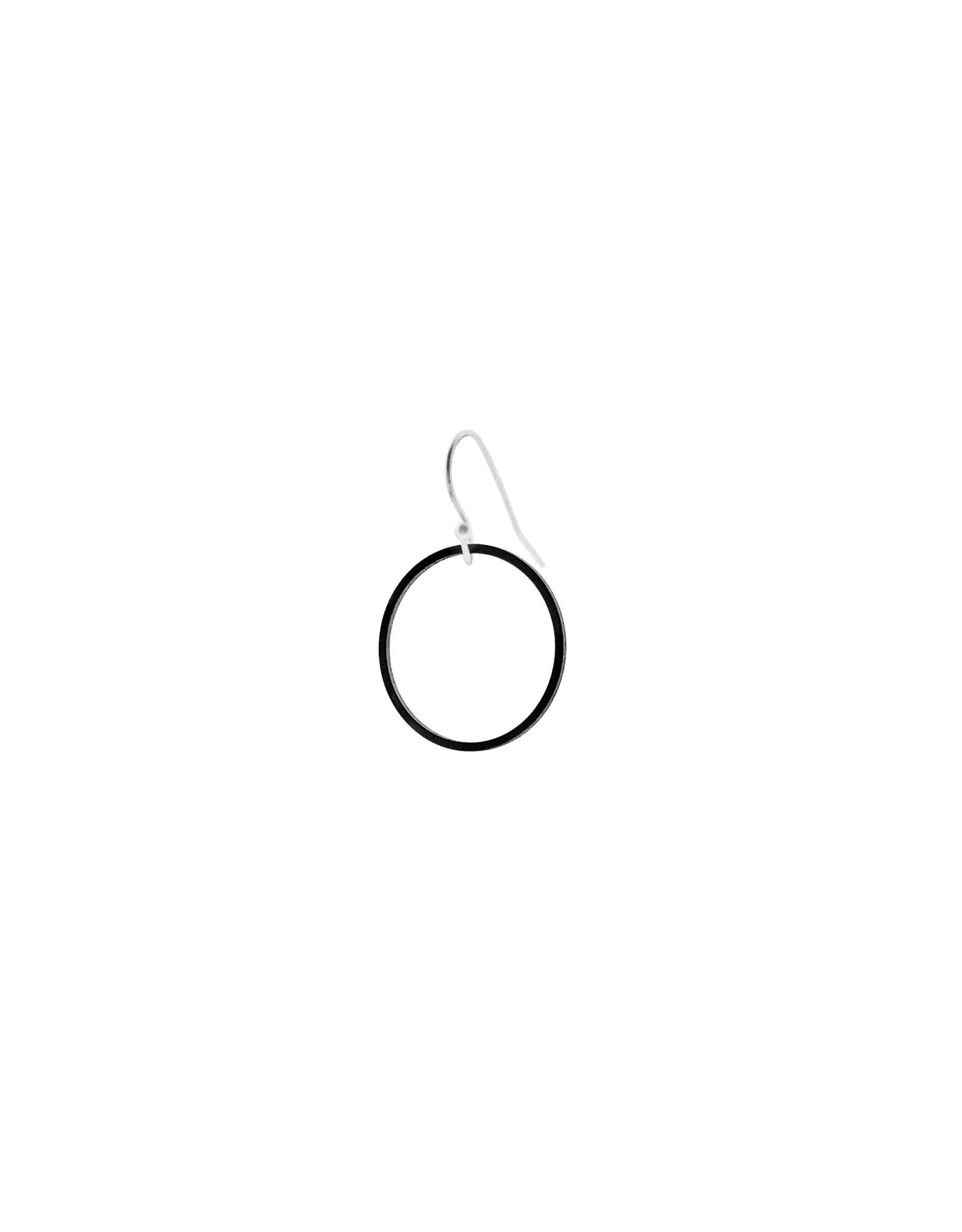 oorbEllen mix&match cirkel mat zwart kort zilver
