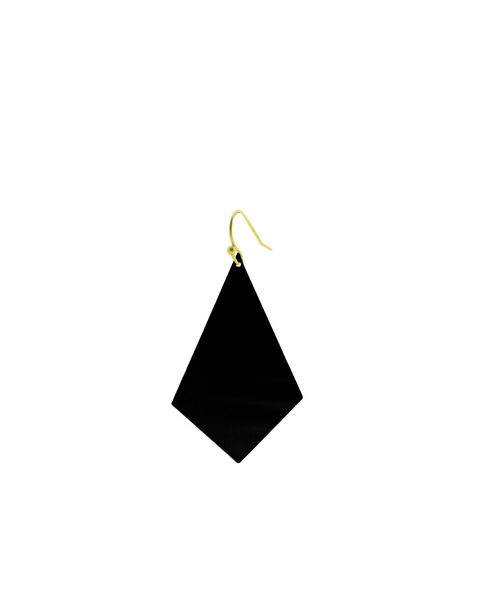 oorbEllen mix&match ruit mat zwart kort goud