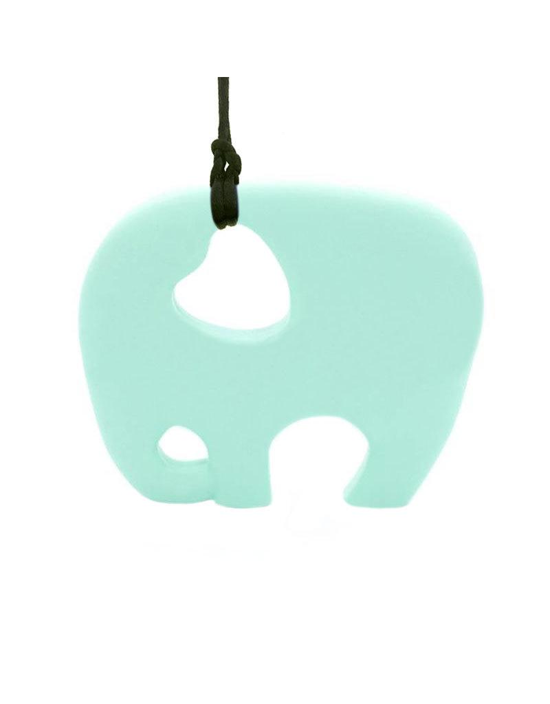 Bijtketting siliconen olifant munt
