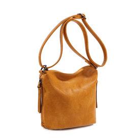 Handtas baggy klein camel