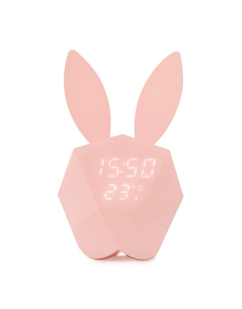 MOB Alarmklok met sensor konijn roze