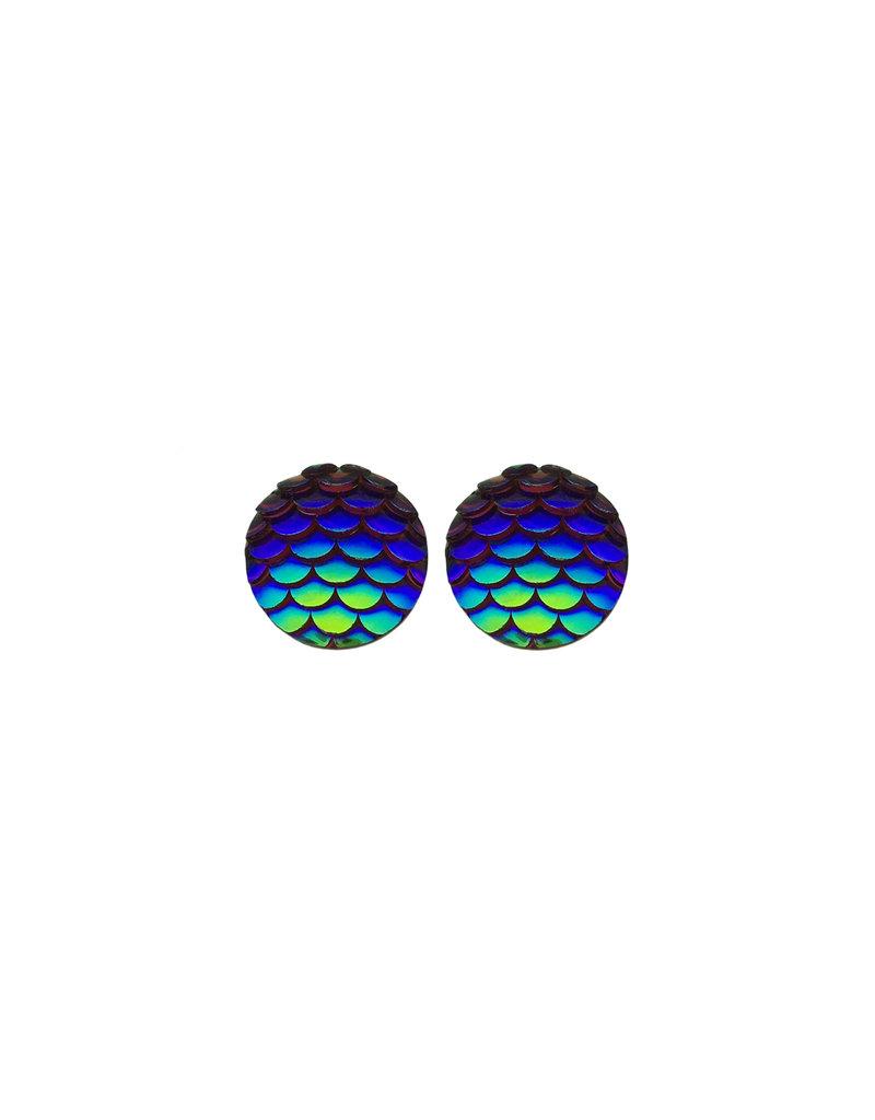 oorbEllen stekers zeemeermin donkerblauw