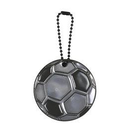 Reflecterende sleutelhanger voetbal