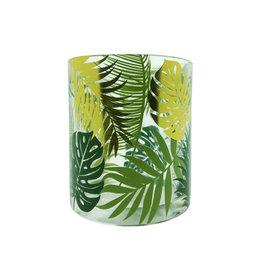 Theelichthouder tropical leafs