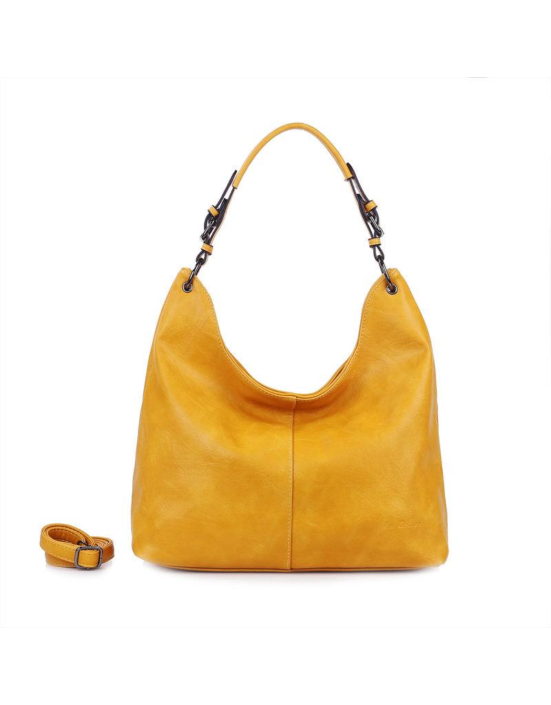 Handtas baggy XL okergeel