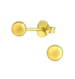 Stekertjes verguld bolletje 4mm