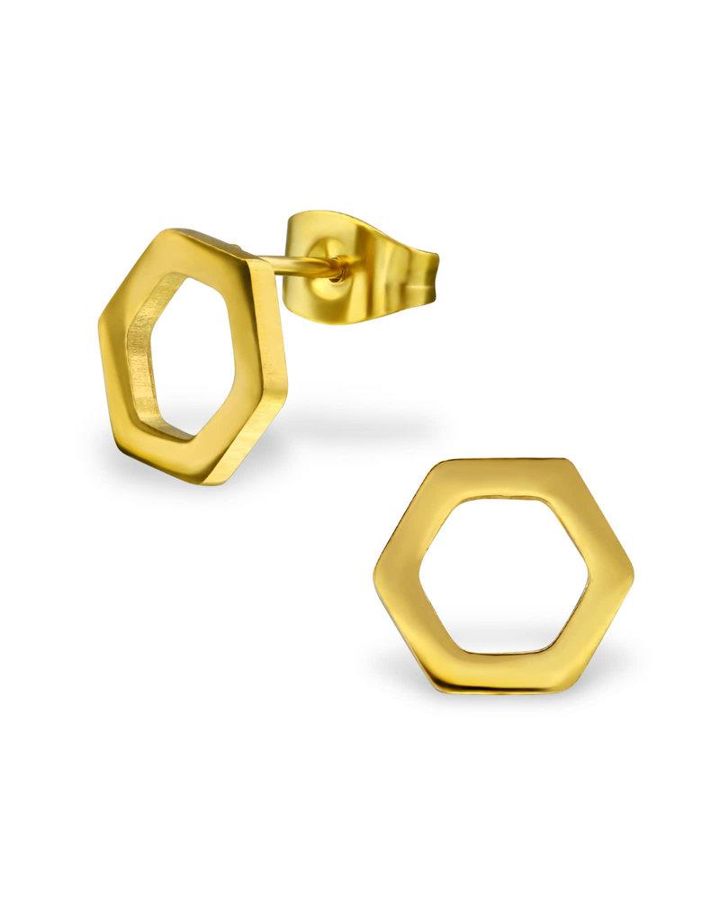 Stekertjes zeshoek goudkleurig
