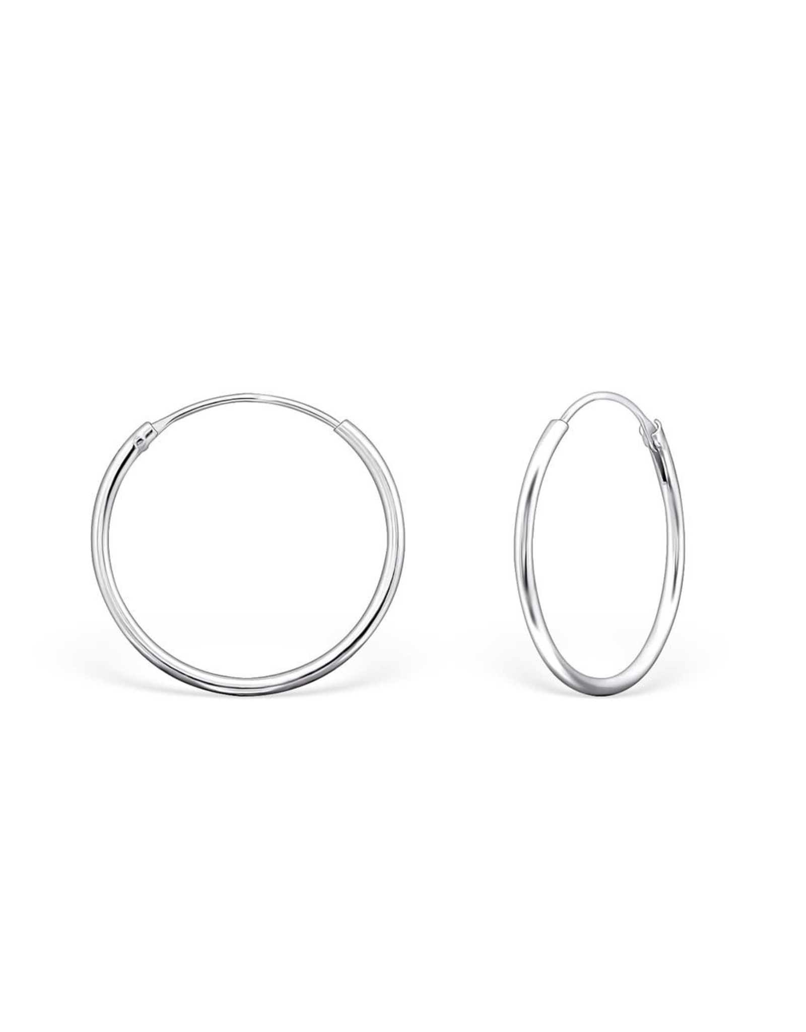 Ringetjes zilver 20mm