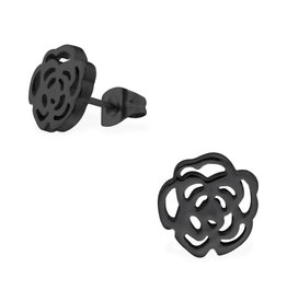 Stekertjes zwart bloem