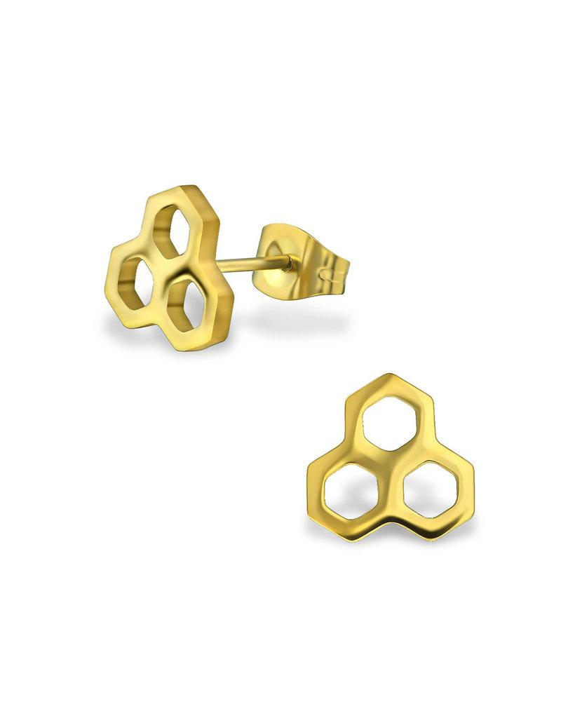 Stekertjes honingraat goudkleurig