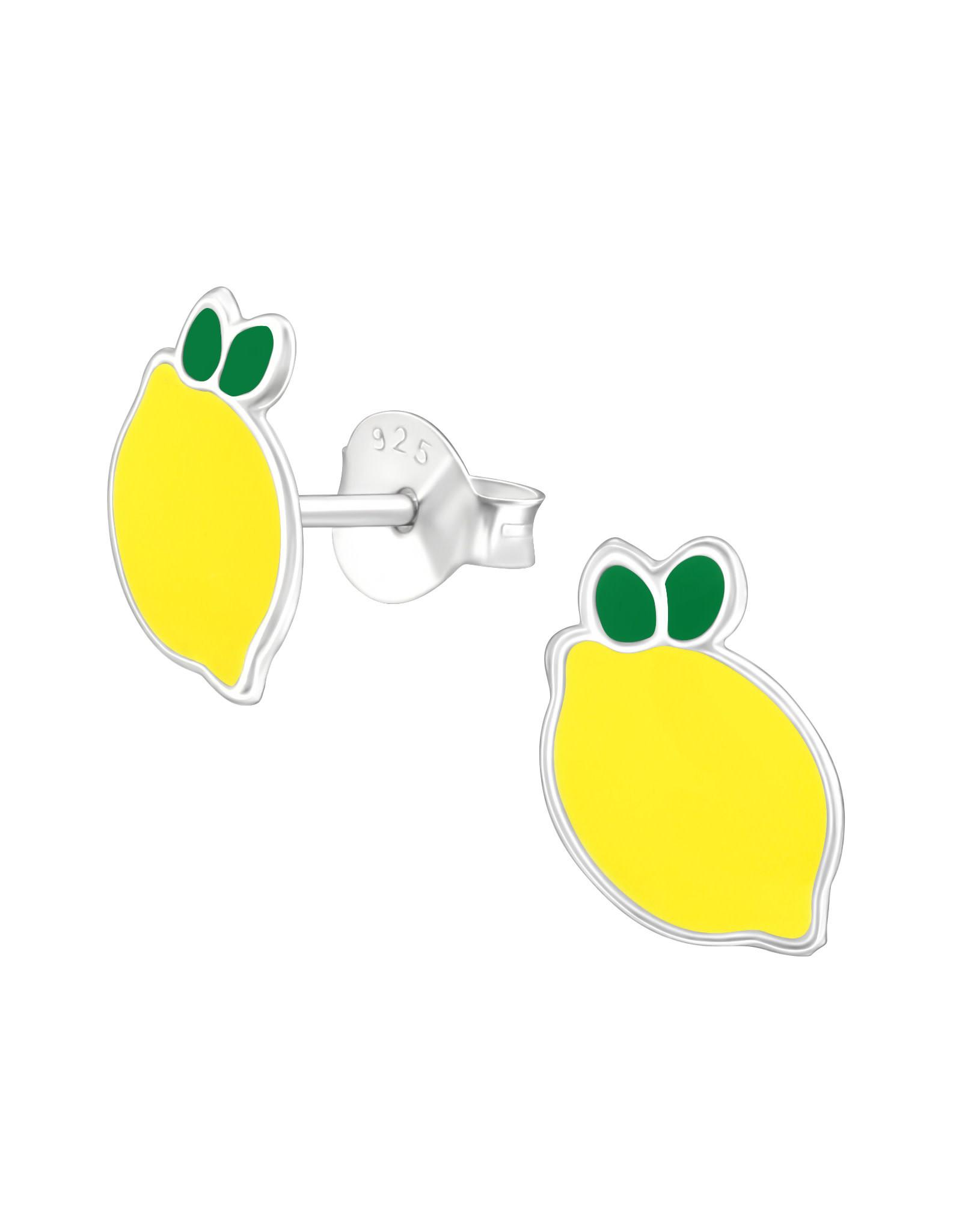 Stekertjes zilver citroen