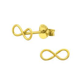 Stekertjes infinity goudkleurig
