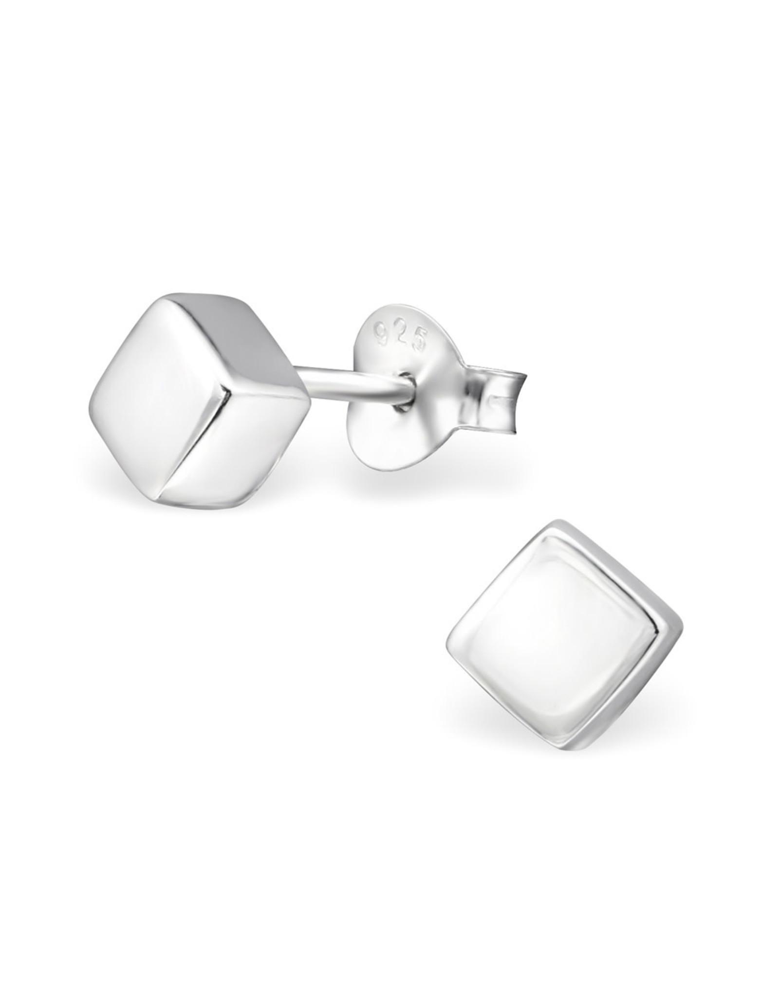 Stekertjes zilver kubus