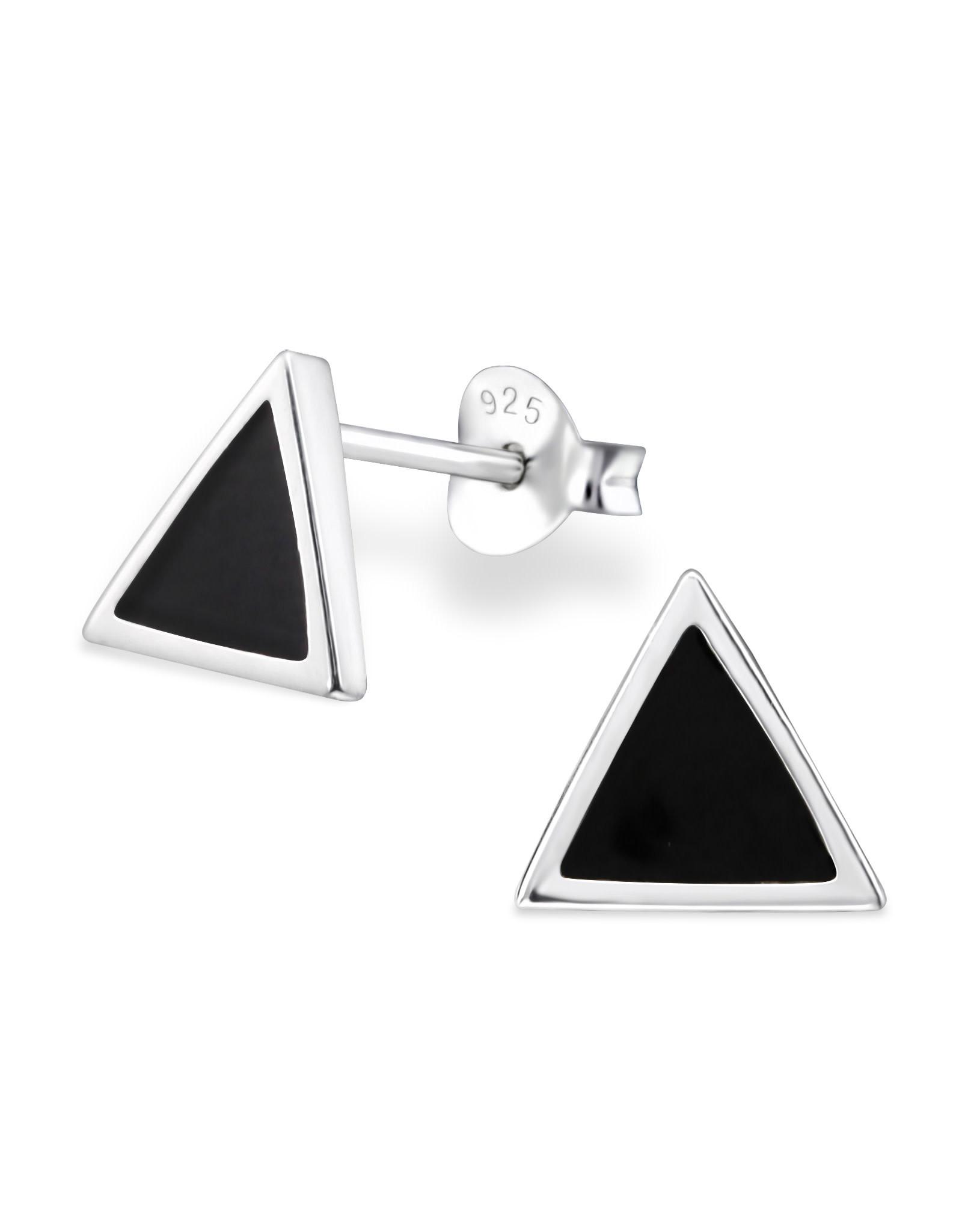 Stekertjes zilver driehoek zwart