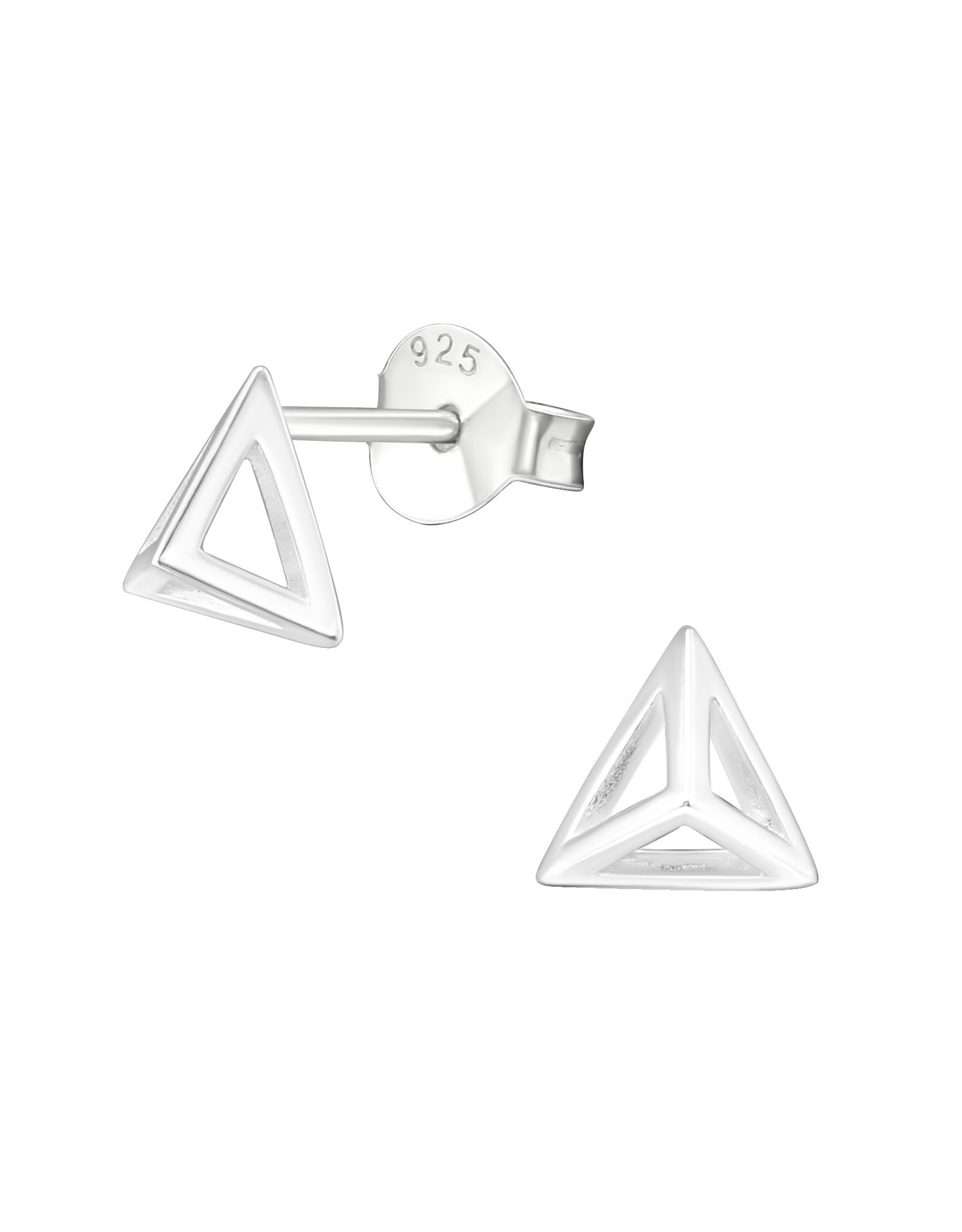 Stekertjes zilver piramide