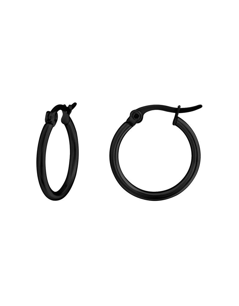 Ringetjes zwart 20mm