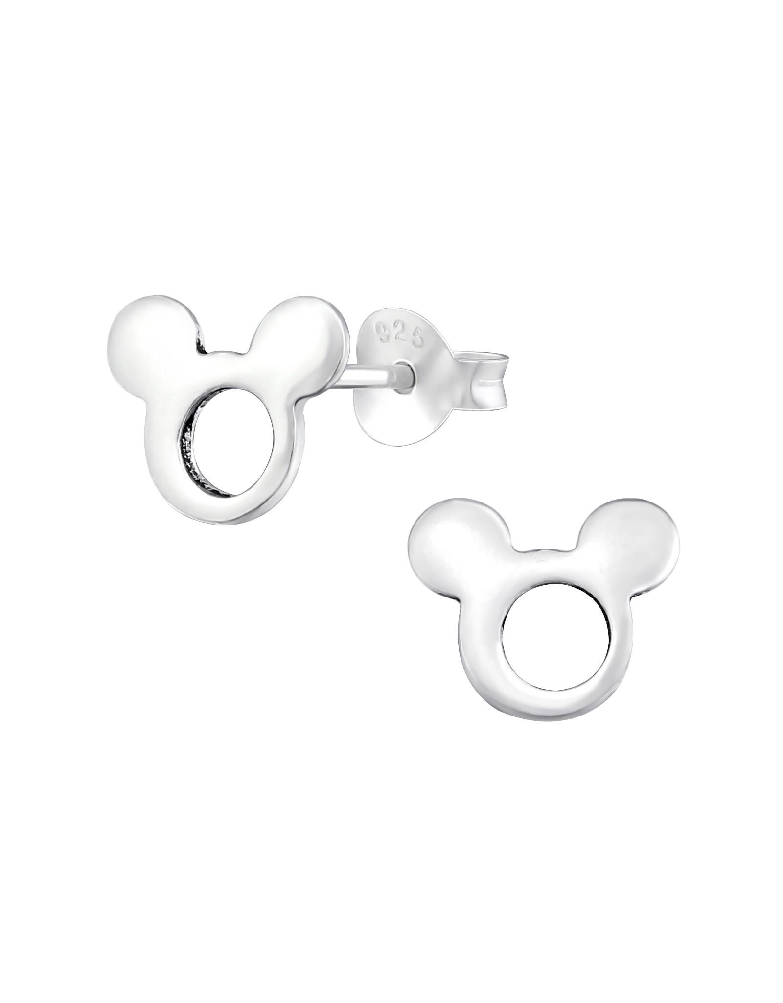 Stekertjes zilver Mickey