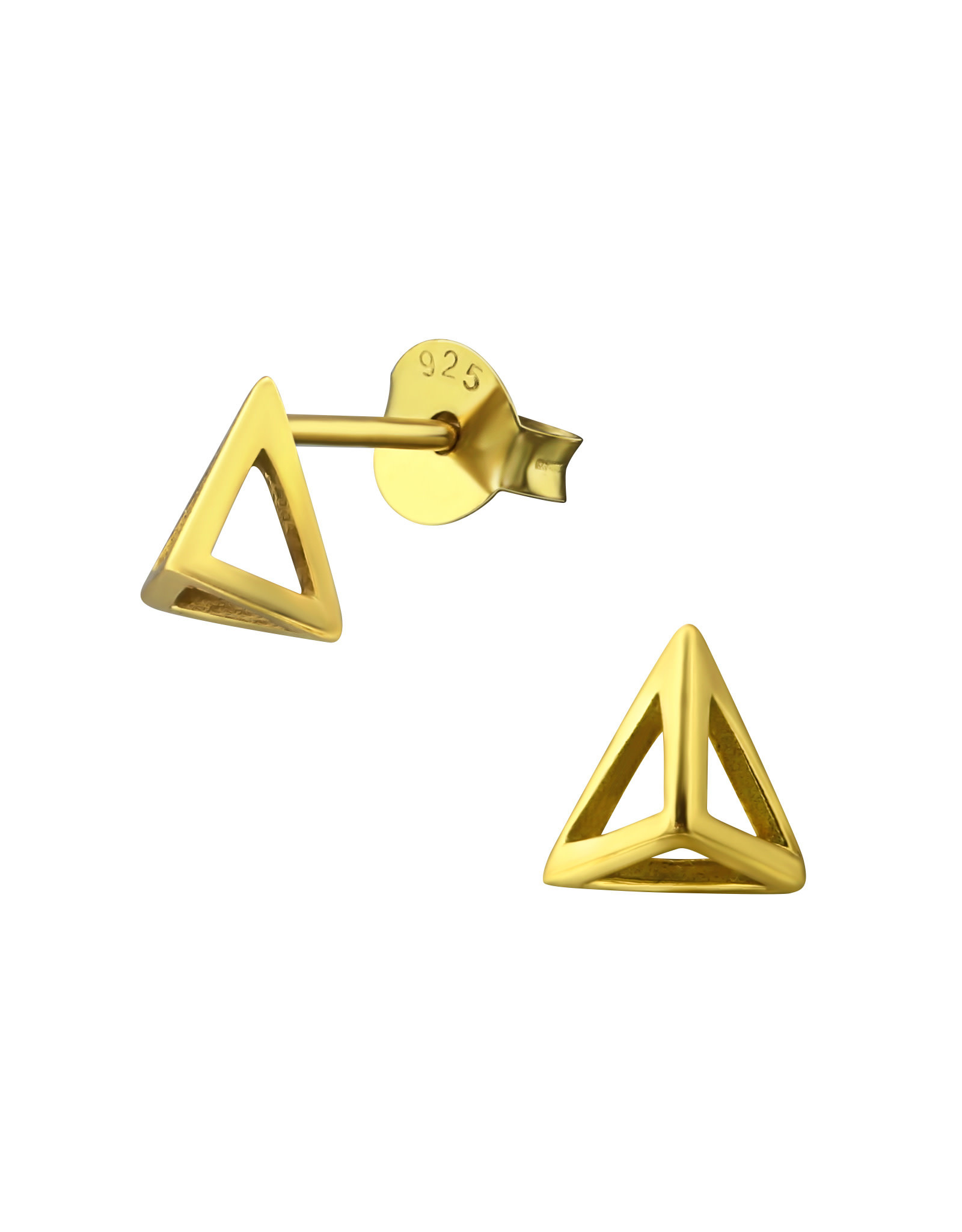 Stekertjes zilver verguld piramide