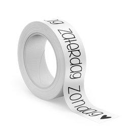 Washi tape bujo dagen + symbolen