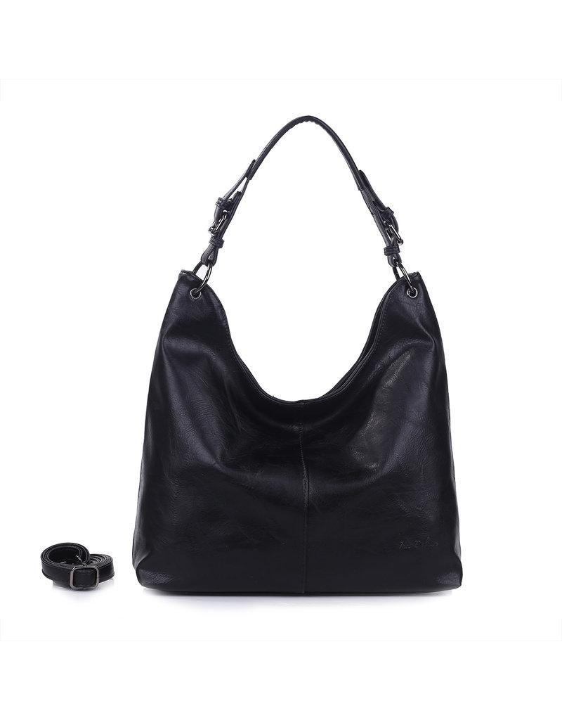 Handtas baggy XL zwart