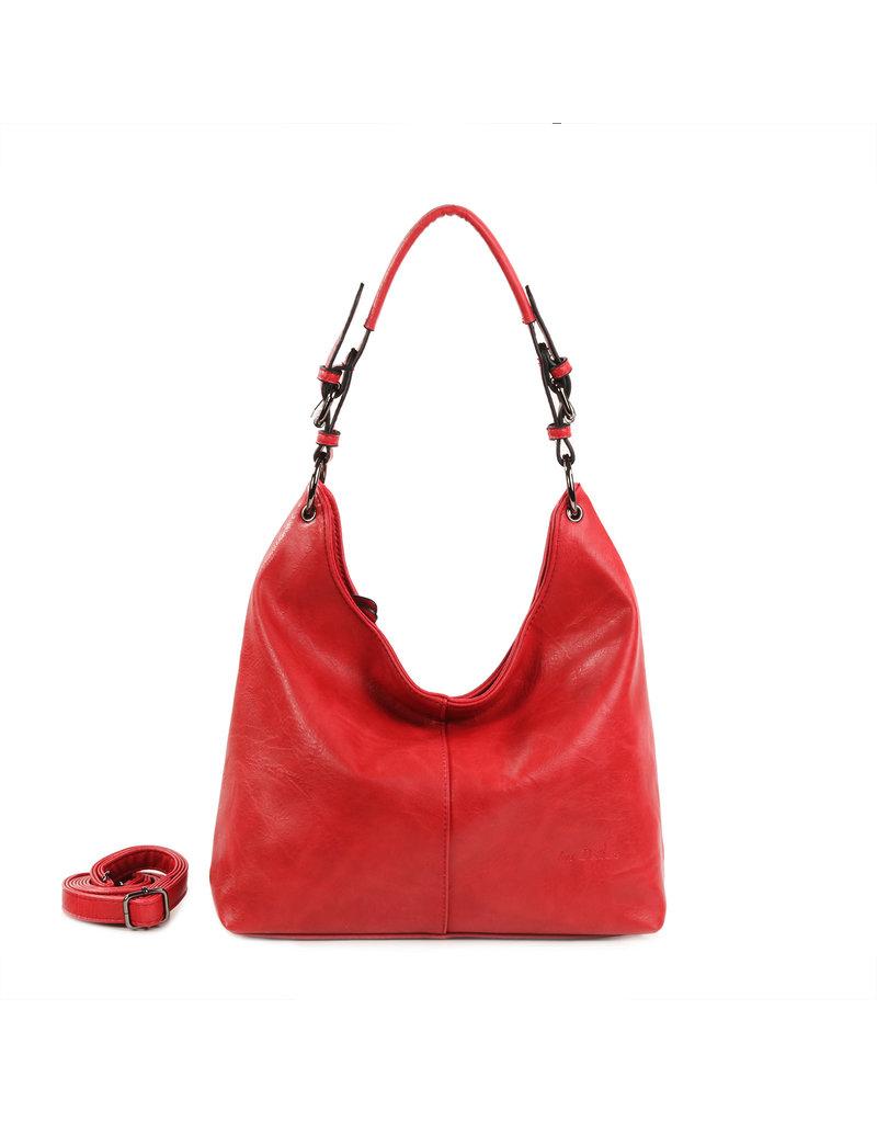 Handtas baggy L rood