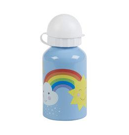 Aluminium drinkfles klein regenboog