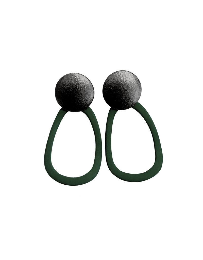 oorbEllen stekers bol mat zwart rubber donkergroen