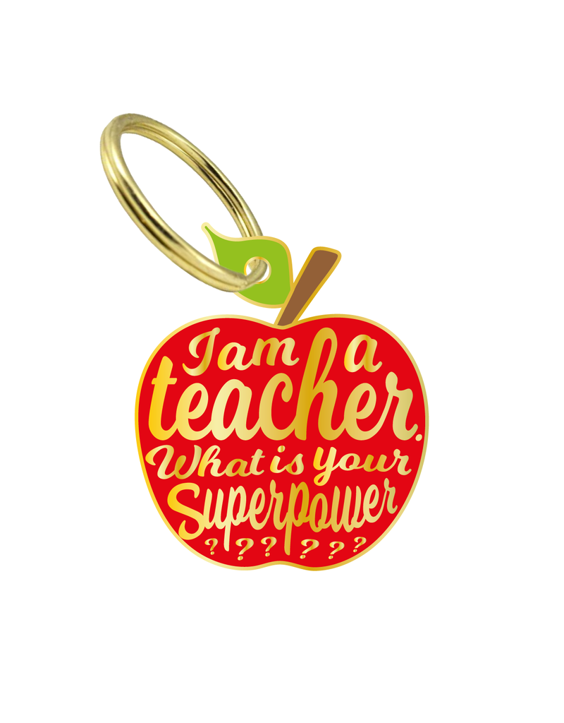 "sleutelhanger ""I'm a teacher, what is your superpower?"""