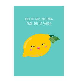 Postkaart When life gives you lemons
