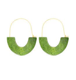 oorbEllen acryl groen