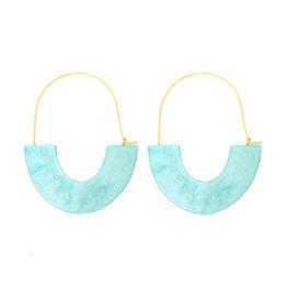 oorbEllen acryl turquoise