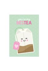 Postkaart You're my besTEA