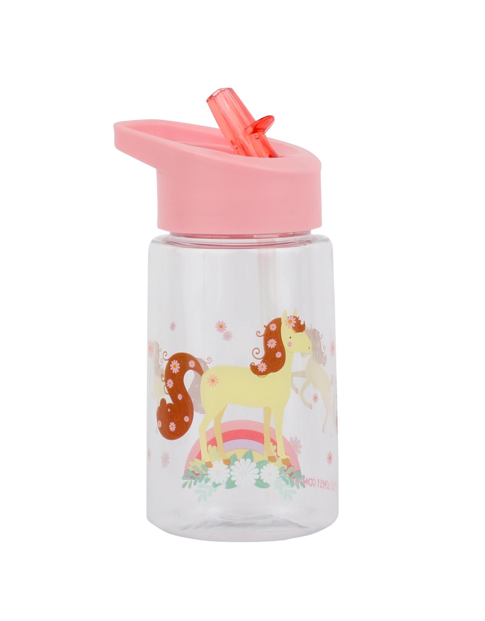 Drinkfles met rietje paard