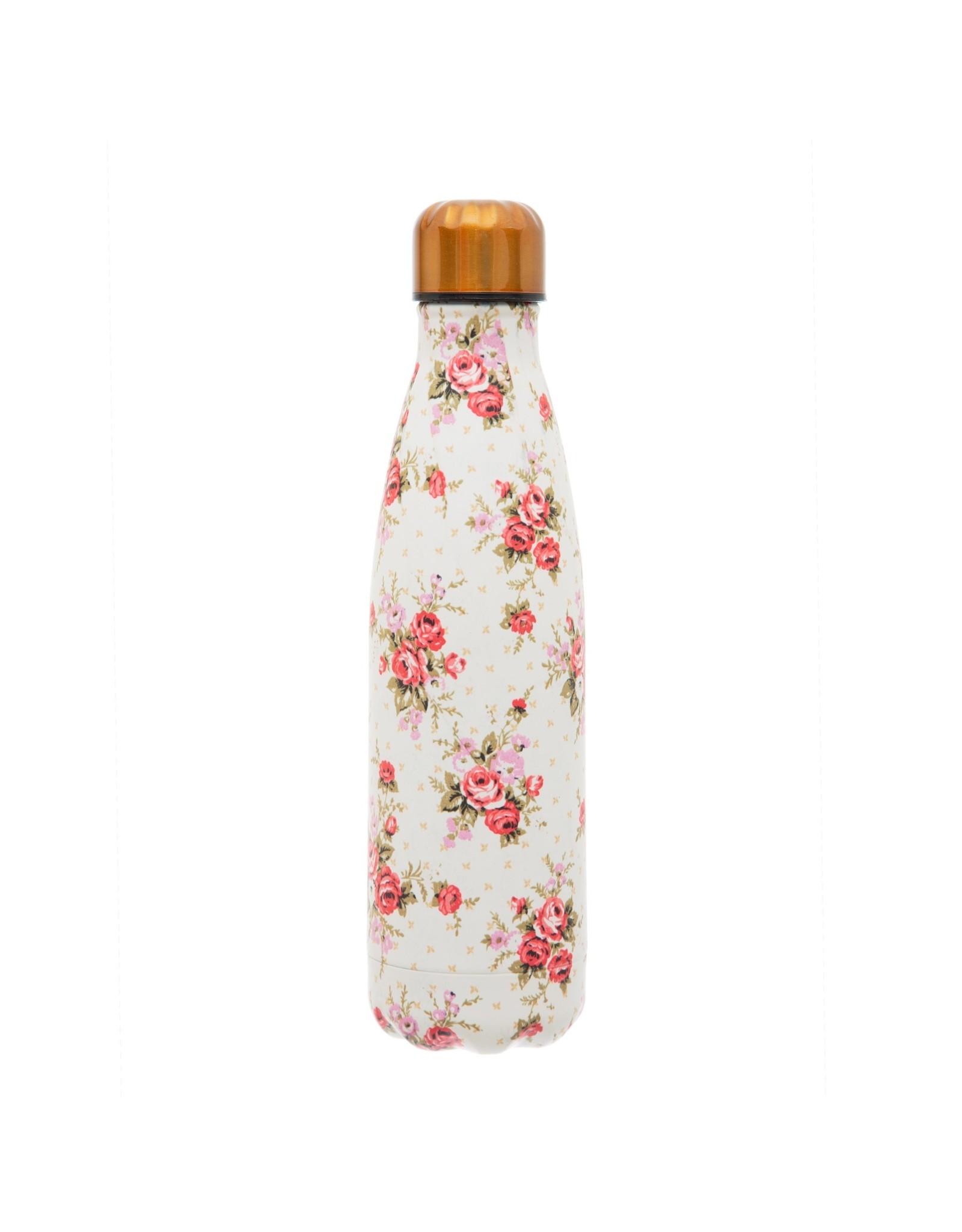 Dubbelwandige fles RVS rozen