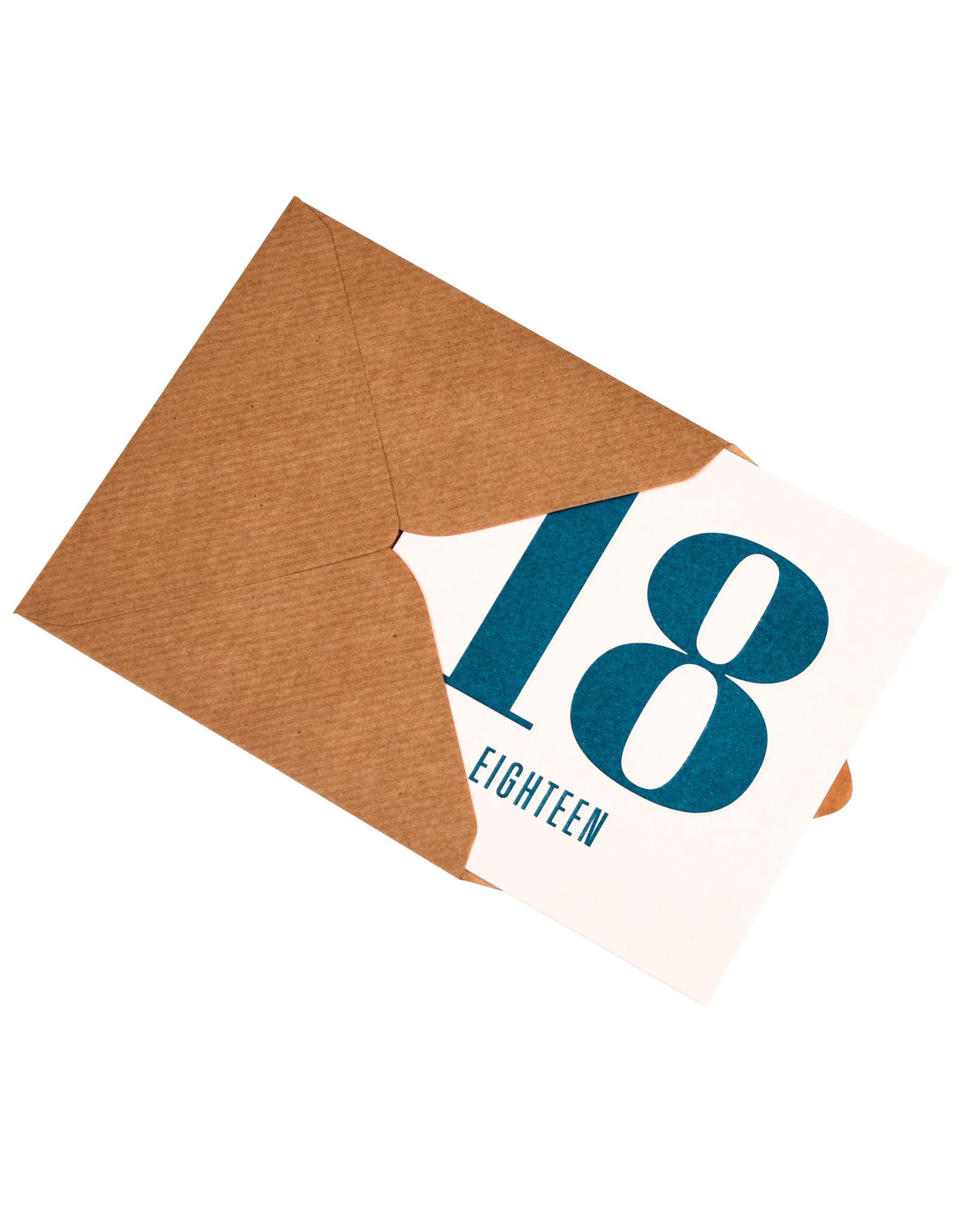 Kaartje met enveloppe 18