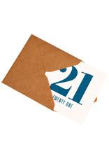Kaartje met enveloppe 21