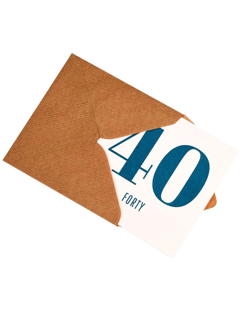 Kaartje met enveloppe 40