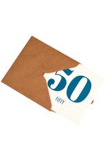 Kaartje met enveloppe 50