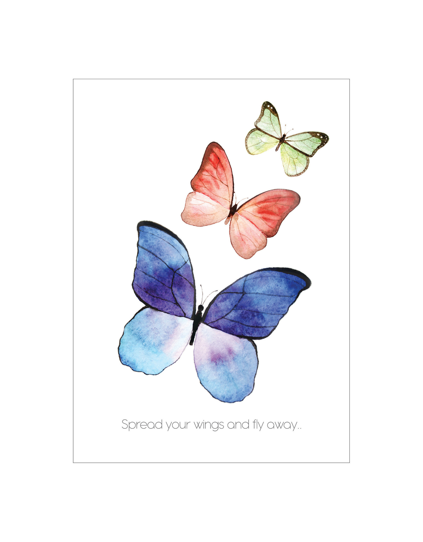 Postkaart Spread your wings and fly away.. vlinders